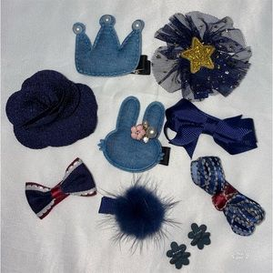 Other - Crown & Star Hair Bow Set